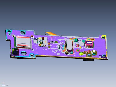3-D scan of sensor with CAD model