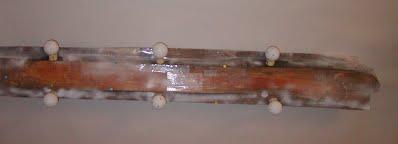 wooden trim after to preparation for 3-D scanning - back