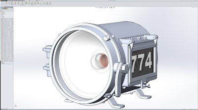 Assembly model in SolidWorks
