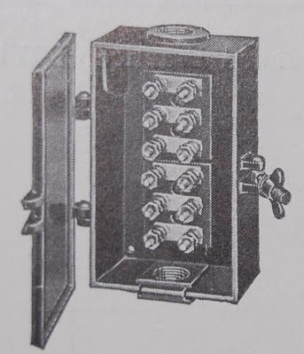 Original junction box from old train catalog